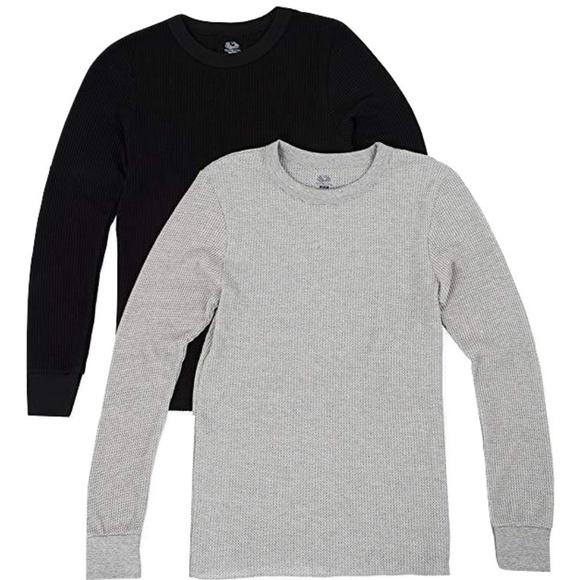 Fruit of the Loom Mens Long Sleeve T-Shirt Shirt 2 Pack